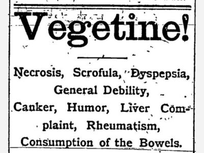 Roscoe History: This Week in... 1877: Vegetine!